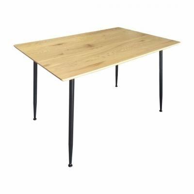 Étkezőasztal fekete lábakkal, 120x80 cm - LISBONNE